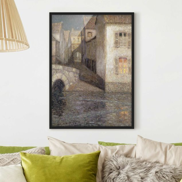 Poster con cornice - Henri Le Sidaner - The House By The River, Chartres - Verticale 4:3