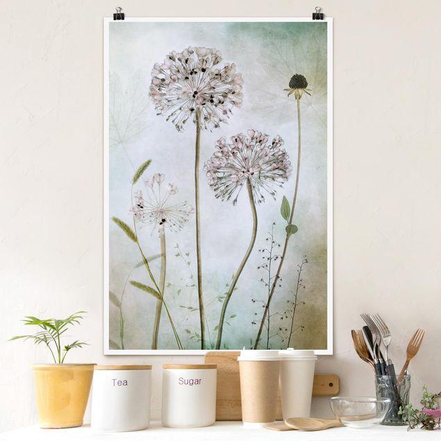 Poster - Leek Flowers In pastello - Verticale 3:2