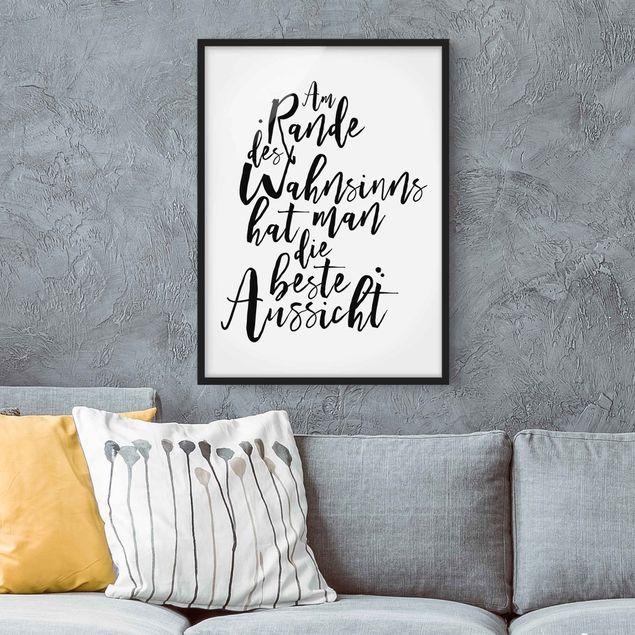 Poster con cornice - The Edge Of Reason - Verticale 4:3