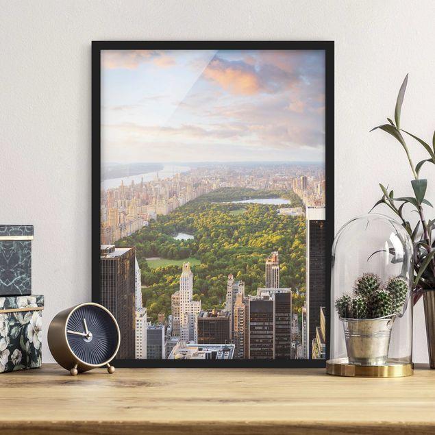 Poster con cornice - Overlooks Central Park - Verticale 4:3