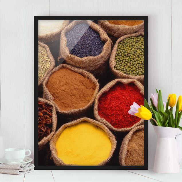 Poster con cornice - Colorful Spices - Verticale 4:3