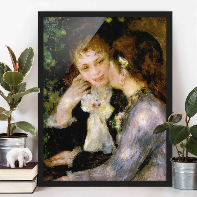 Poster con cornice - Auguste Renoir - Confidences - Verticale 4:3
