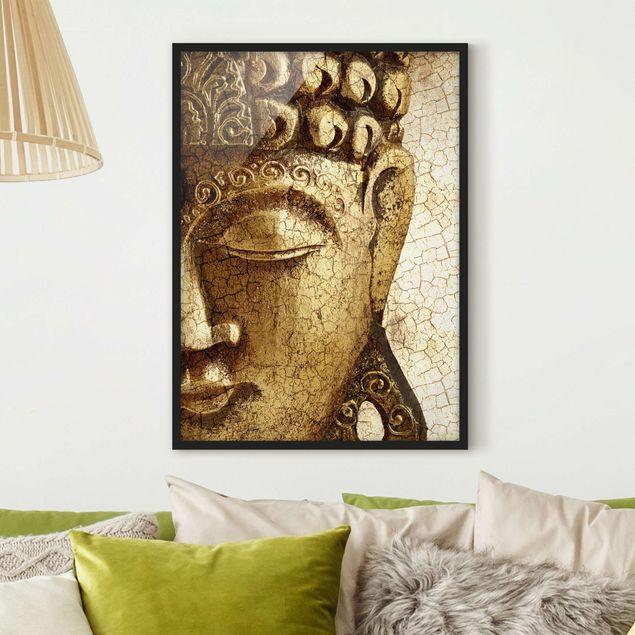Poster con cornice - Vintage Buddha - Verticale 4:3