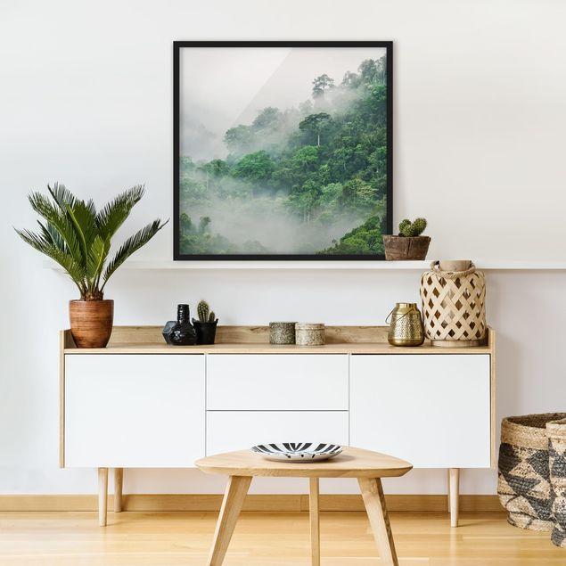 Poster con cornice - Jungle In The Fog - Quadrato 1:1
