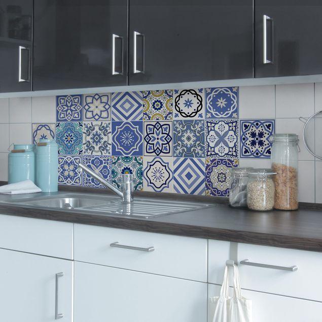 Adesivo per piastrelle - Set - 20 Mediterranean tiles 10cm x 10cm