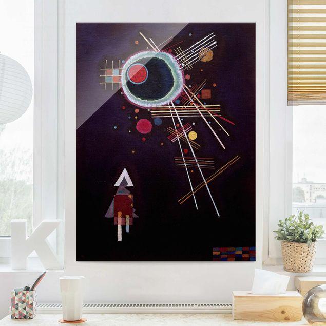 Quadro in vetro - Wassily Kandinsky - Raggi Linee - Espressionismo - Verticale 3:4