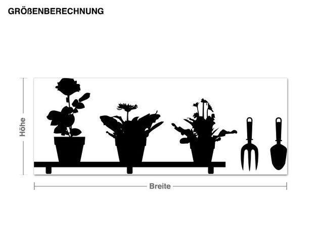 Adesivo murale appendiabiti - basamento di fiore