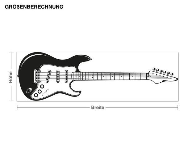 Adesivo murale appendiabiti - chitarra elettrica