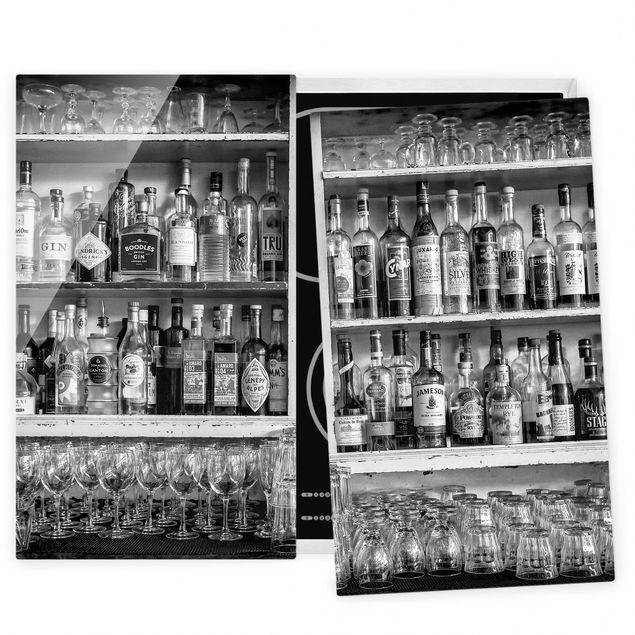 Coprifornelli in vetro - Bar Black White