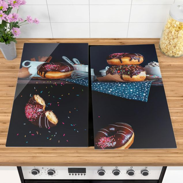 Coprifornelli in vetro - Donuts From The Kitchen Shelf - 52x60cm