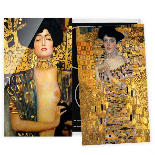 Coprifornelli in vetro - Gustav Klimt - Judith And Adele - 52x60cm