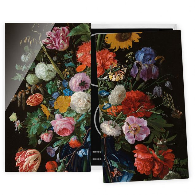 Coprifornelli in vetro - Jan Davidsz De Heem - Glass Vase With Flowers