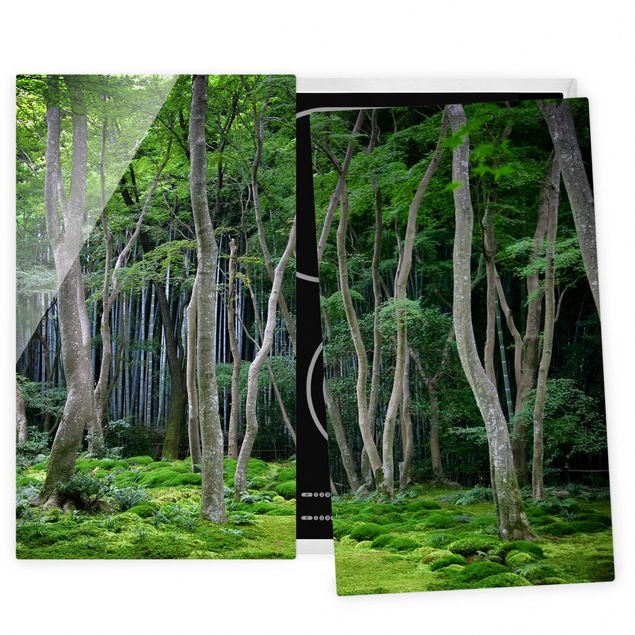Coprifornelli in vetro - Japanese Forest