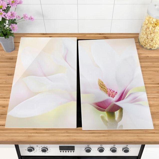 Coprifornelli in vetro - Delicate Magnolia Blossom