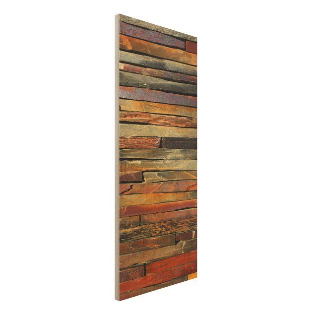 Quadro in legno - Stack of Plants - Pannello