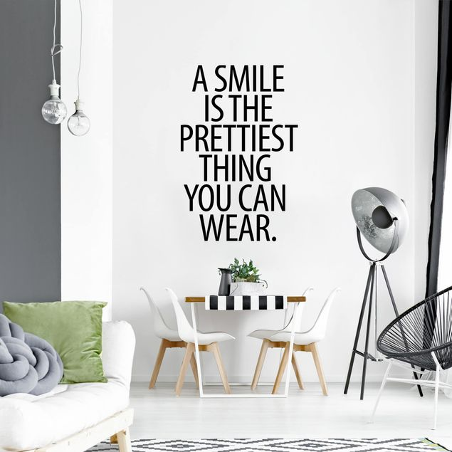 Adesivo murale - A Smile Is The Prettiest Thing Sans Serif