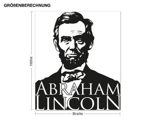 Adesivo murale - Abraham Lincoln