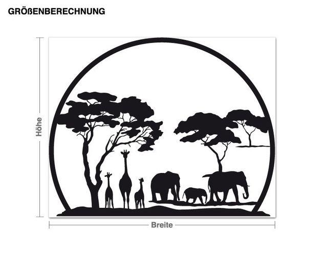 Adesivo murale - paesaggio Africa