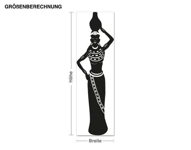 Adesivo murale - donna africana
