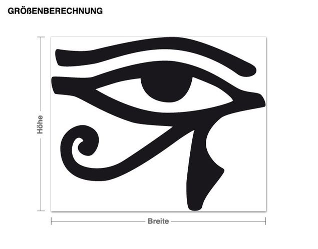 Adesivo murale - Occhio di Ra