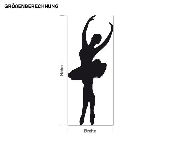 Adesivo murale - balletto