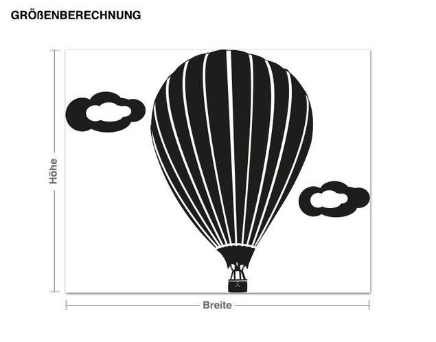 Adesivo murale - volo in mongolfiera