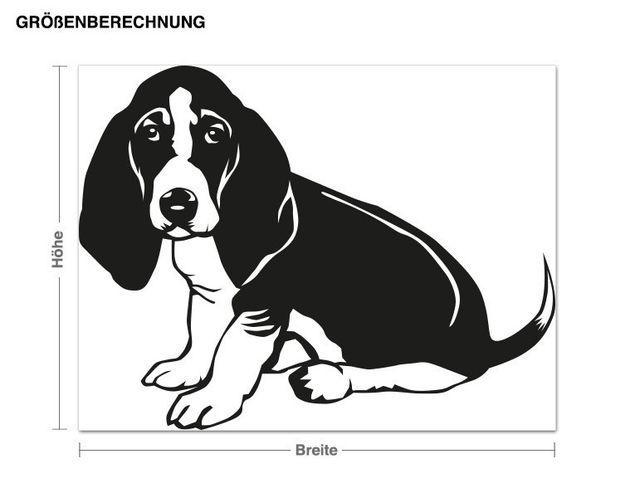 Adesivo murale - basset hound