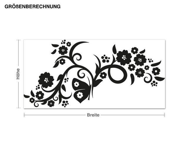 Adesivo murale - fiori slancio
