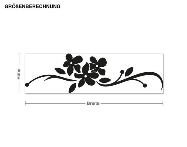 Adesivo murale - fiori Trio