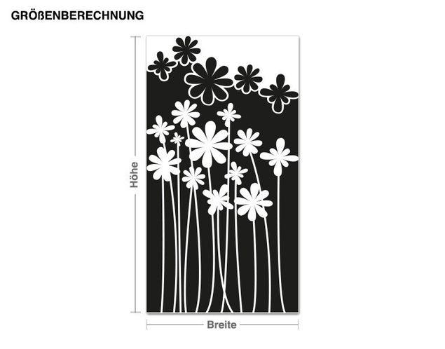 Adesivo murale - fiori di bosco