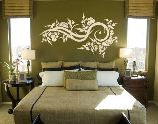 Adesivo murale - fiori onda