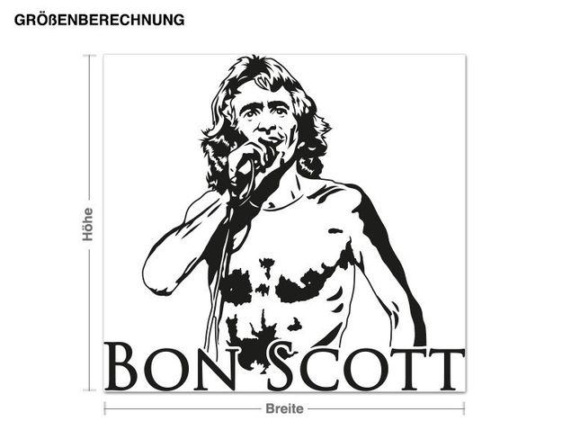 Adesivo murale - Bon Scott