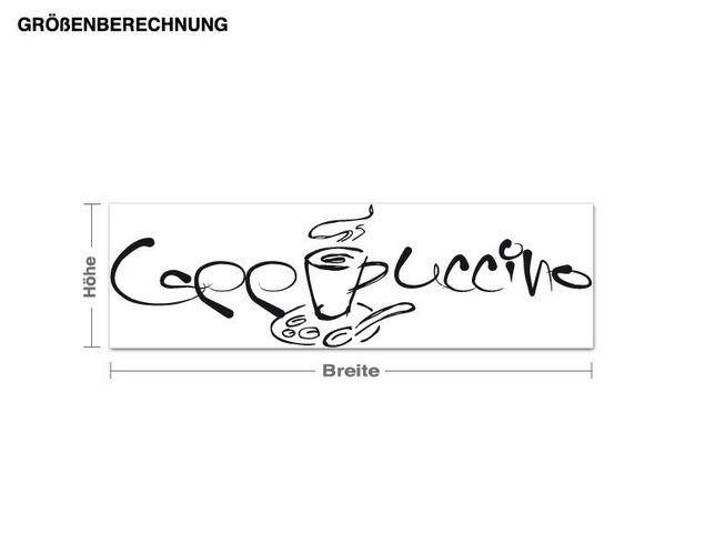Adesivo murale - cappuccino