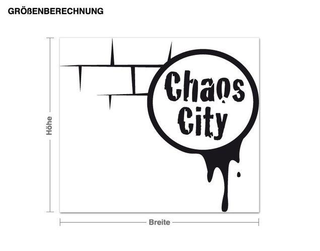 Adesivo murale - caos Città