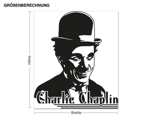 Adesivo murale - Charlie Chaplin Portrait