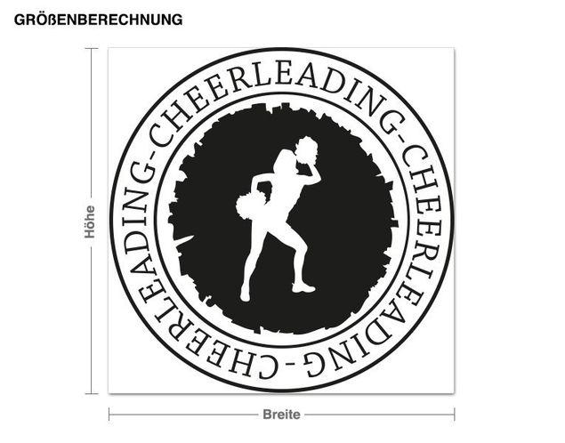Adesivo murale - cheerleading