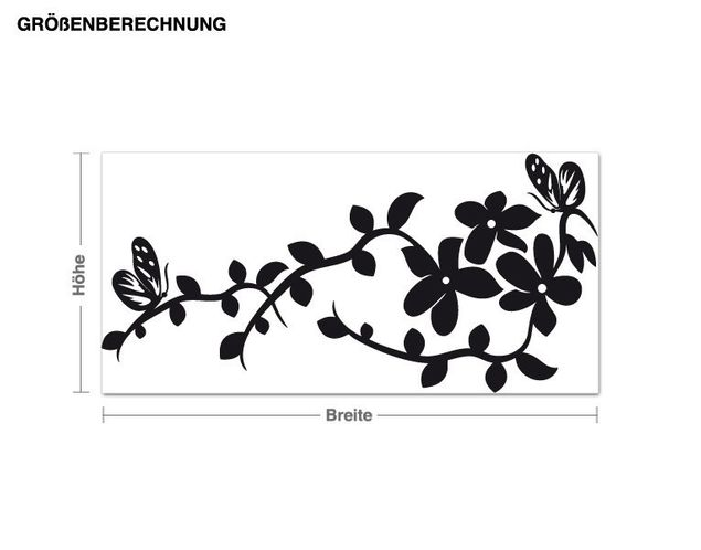 Adesivo murale - Cina fiori