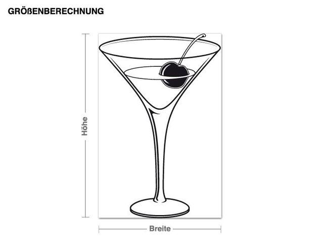 Adesivo murale - cocktail
