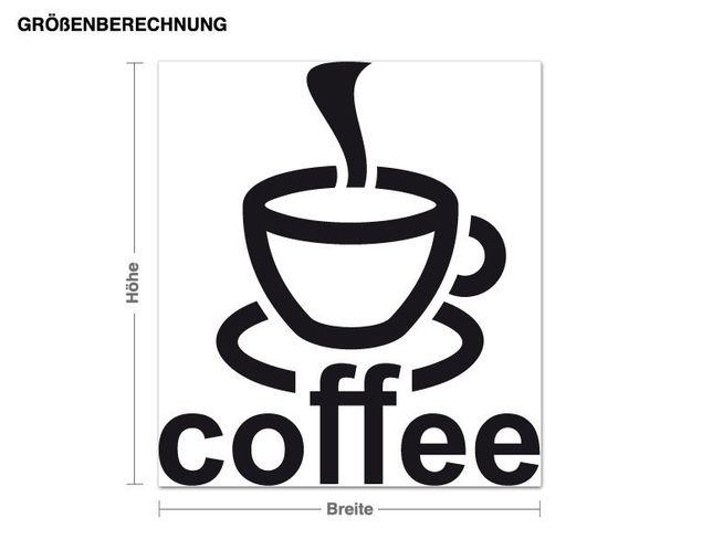 Adesivo murale - caffè