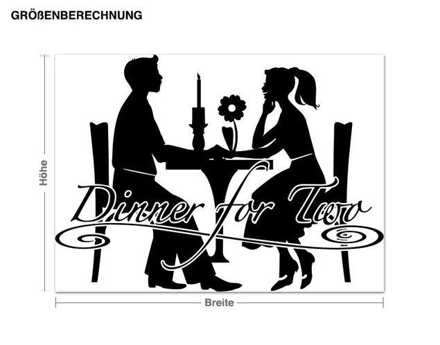Adesivo murale - Dinner for Two