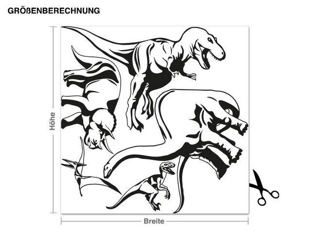 Adesivo murale - Dino Set