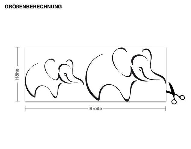 Adesivo murale - elefanti
