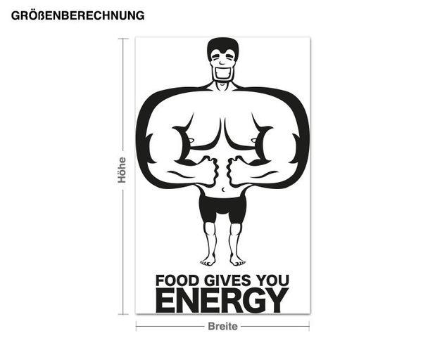 Adesivo murale - cibo Energia