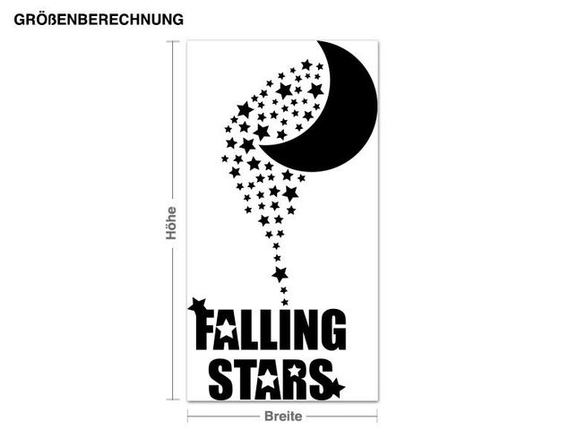 Adesivo murale - Falling Stars