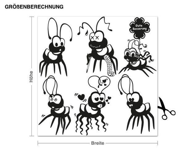 Adesivo murale - Fire Ants