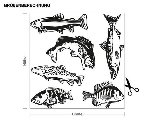 Adesivo murale - Fish Set
