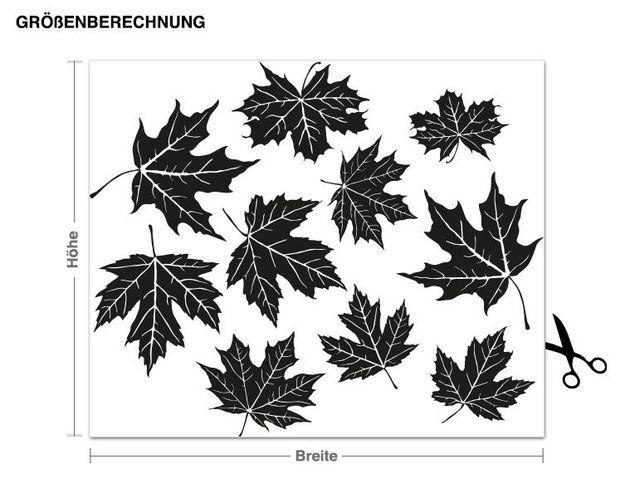 Adesivo murale - foglie volanti
