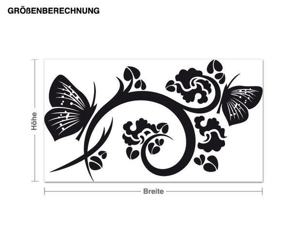 Adesivo murale - fiori volanti