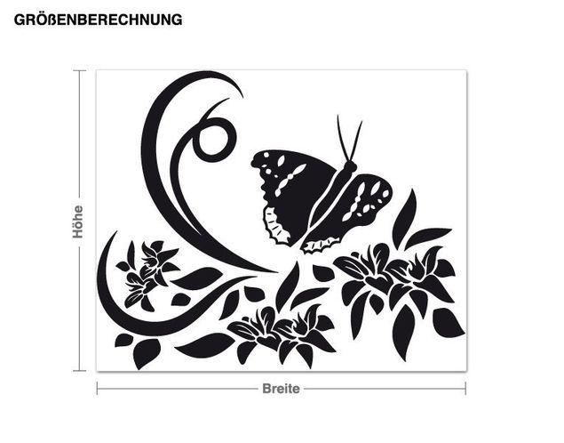 Adesivo murale - volo della farfalla