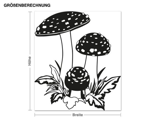 Adesivo murale - funghi
